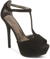 Shoes, Sardinia T-Strap Platform Pumps