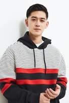 Urban Outfitters Colorblocked Stripe Hoodie Sweatshirt