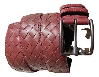 Bottega Veneta Burgundy Leather Belts