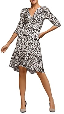 Bailey 44 Olivia Puff-Sleeve Leopard Print Dress