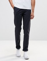 Pull&bear Stretch Slim Fit Chinos In Navy