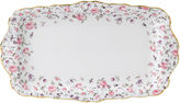 Royal Albert Rose Confetti Vintage Sandwich Tray