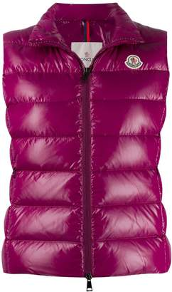 Moncler logo patch padded gilet