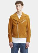 Acne Studios Axl Suede Biker Jacket in Tan