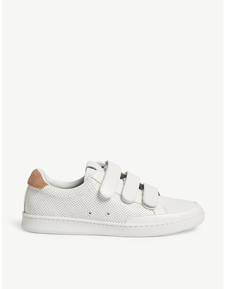 Aldo Uneriri perforated faux-leather trainers