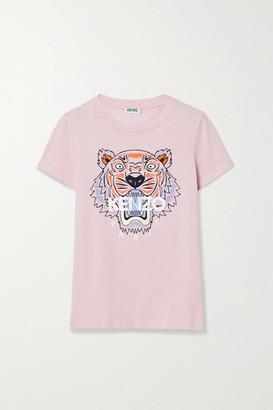Kenzo Printed Cotton-jersey T-shirt - Baby pink