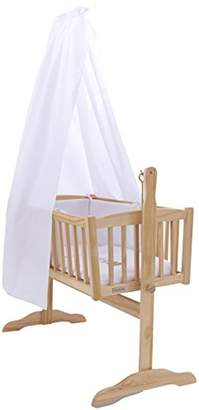 Clair De Lune Freestanding L Drape and Rod Set for Cribs/Cots and Cradles, White