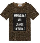Someday Soon Leopard print cotton T-shirt 4-14 years