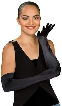 Secret Wishes Black Stretch Satin Opera Costume Gloves