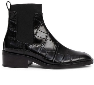 3.1 Phillip Lim Alexa Croc-Embossed Leather Chelsea Boots