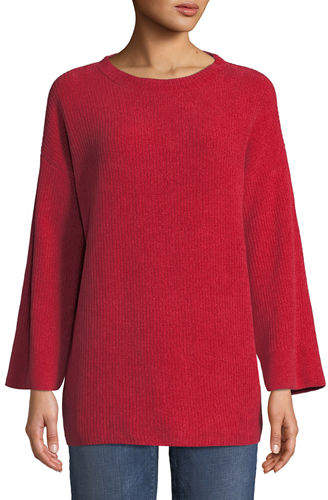 Eileen Fisher Organic Cotton Chenille Tunic Sweater