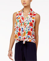 Amy Byer Juniors' Printed Sleeveless Shirt