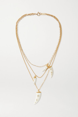 Isabel Marant Aimable Gold-tone Horn Necklace