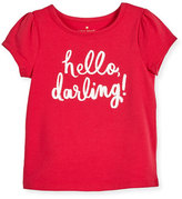 Kate Spade Hello Darling Stretch Jersey Tee, Pink, Size 2-6