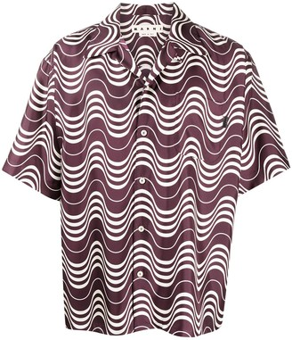 Marni Wave-Pattern Short Sleeve Shirt