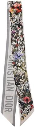 Christian Dior Logo Floral Print Scarf