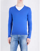 HUGO BOSS V-neck cotton jumper