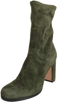 Unützer Khaki Suede Ankle boots
