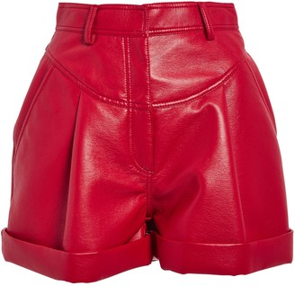 Philosophy di Lorenzo Serafini High-Waist Faux Leather Shorts