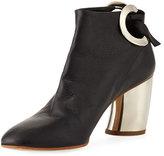 Proenza Schouler 70mm Bootie W/ Metal Heel, Black