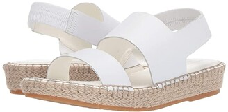 Cole Haan Cloudfeel Espadrille Sandal (Optic White Leather/Natural Jute/Gume) Women's Shoes