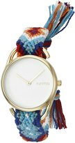 RumbaTime Women's 20038 'Jane Action Against Hunger' Quartz Metal and Cloth Casual Watch