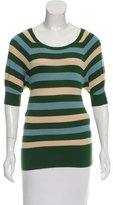 Diane von Furstenberg Striped Cashmere Top