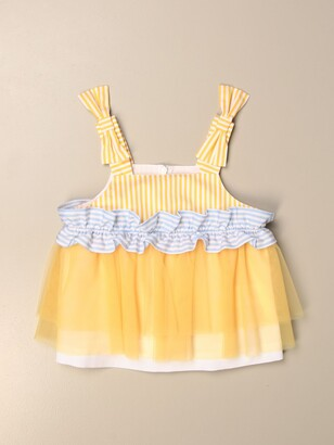 Simonetta Cropped Top With Rouches And Tulle
