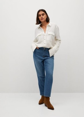 MANGO Violeta BY Girlfriend Marina jeans dark blue - 10 - Plus sizes