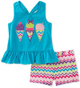 Kids Headquarters 2-Pc. Ice Cream Top and Shorts Set, Baby Girls (0-24 months)
