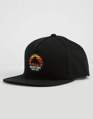Burton Underhill Black Mens Snapback Hat