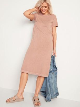 Old Navy Vintage Garment-Dyed Midi T-Shirt Dress for Women