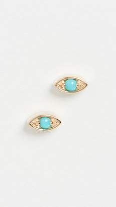 Zoë Chicco 14k Gold Small Marquise Eye Studs