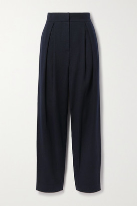 LE 17 SEPTEMBRE Pleated Wool Tapered Pants - Midnight blue