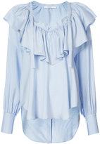 Tome ruffled V-neck blouse - women - Silk - XS