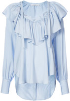 Tome ruffled V-neck blouse