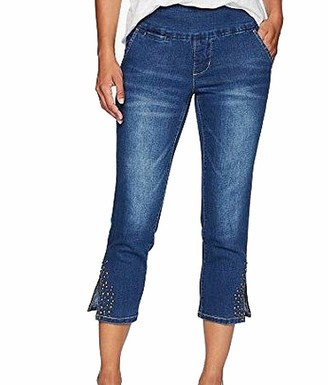 Jag Jeans Women's Petite Naomi Crop with Studs