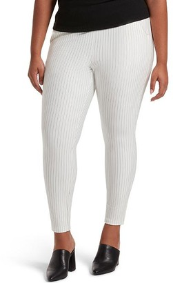 Hue High-Waist Ponte Striped Skimmer Pants
