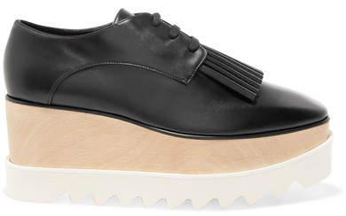 Stella McCartney Elyse Faux Leather Platform Brogues - Black
