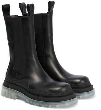 Bottega Veneta Tire leather ankle boots
