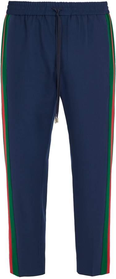 Gucci Side-stripe wool-blend trousers