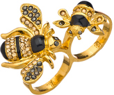 Bumble Bee Shameless Jewelry Gold Enamel Bumblebee Double Ring