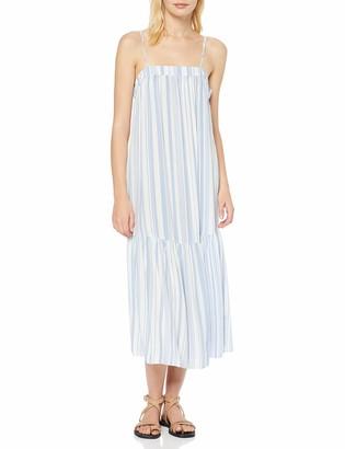 New Look Women's Ec Stripe Strappy Smock Midi (6260748) Dress