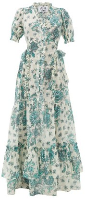 Evi Grintela Tuberose Cotton-voile Dress - White Print