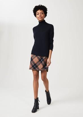 Hobbs Elea Wool Check A Line Skirt