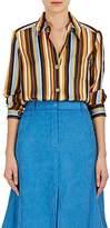 Acne Studios Women's Buse Striped Satin Blouse