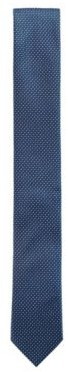 HUGO BOSS Water Repellent Tie In Pure Silk With Micro Pattern - Dark Blue