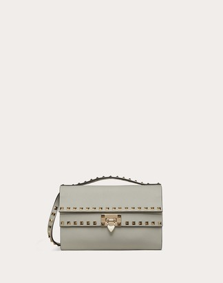 Valentino Rockstud Grainy Calfskin Crossbody Bag Women Black Calfskin 100% OneSize