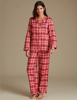 Marks and Spencer Cotton Rich Checked Pyjamas