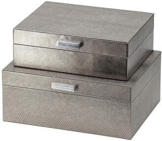 R16 Home Silver Snake Skin Metallic Box Set